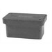 Quazite PG1324BA24 PG Style Stackable Concrete Box With Open Bottom; 24 Inch Width x 24 Inch Depth x 13 Inch Height, Precast Polymer Concrete Fiberglass Reinforced, Concrete Gray