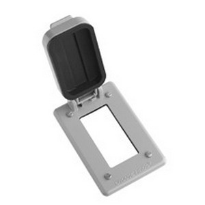 Cooper Crouse-Hinds WLGF FSV Wet Location Cover; Copper-Free Aluminum, Device Box Mount