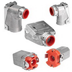 Cooper Crouse-Hinds 38MCQD Duplex Quick-Lok Pro Connector for AC/MC Fittings; 1/2 Inch, Zinc Die-Cast
