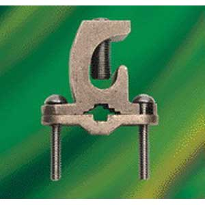 NSI GLC-140DB Heavy Duty Direct Burial Ground Clamp; 1/2 - 2 Inch, 8-4/0 AWG Stranded