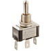NSI 78070TQ Toggle Switch; 1-Pole, SPDT, 20/10 Amp, 125/250 Volt AC, Brass-Nickel