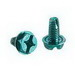 NSI GSC Combo Hex/Slotted Grounding Screw; Green