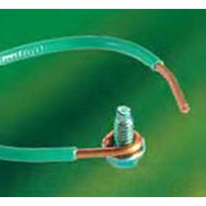 NSI PG12C Wire Grounding Pigtail; 12 AWG, 6.500 Inch Length, 50/Pack