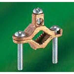 NSI G-2-S Bronze Ground Clamp; 1-1/4 - 2 Inch, 2 AWG Stranded