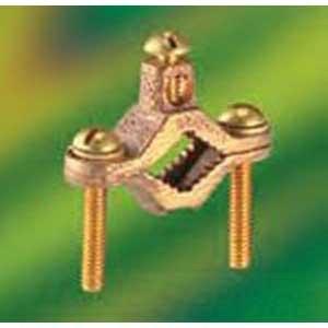 NSI G-1-S-DB Bronze Direct Burial Ground Clamp; 1/2 - 1 Inch, 2 AWG stranded