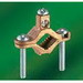 NSI G-4-S Bronze Ground Clamp; 2-1/2 - 4 Inch, 2 AWG Stranded