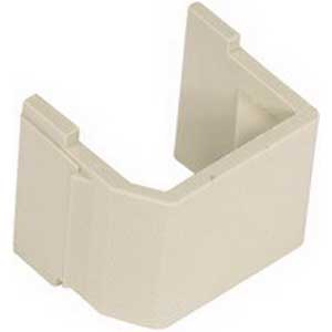 Hubbell Premise SFBE10 Blank AV Connector Module; Snap-On Mount, Plug-N-Play Connection, Electric Ivory, Textured