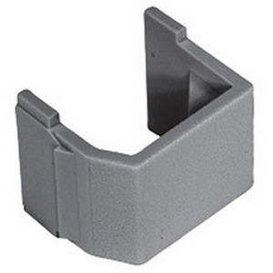 Hubbell Premise SFBG10 Blank Connector; Snap-On Mount, Plug-N-Play Connection, Gray, Textured