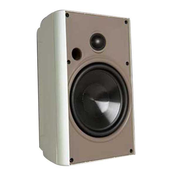 Proficient AW525WHT Stereo Speaker; 5-1/4 Inch Polypropylene Woofer, 2-Way, 88 dB Sensitivity, White