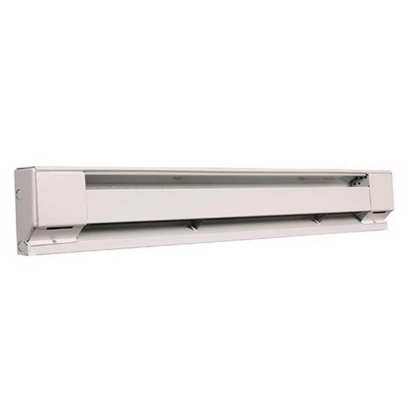 Marley QMK-2545HW Q-Mark® High Altitude Electric Baseboard Heater; 1250/940 Watt, 240/208 Volt, Floor/Wall Mount Steel, Navajo White, Powder-Coated