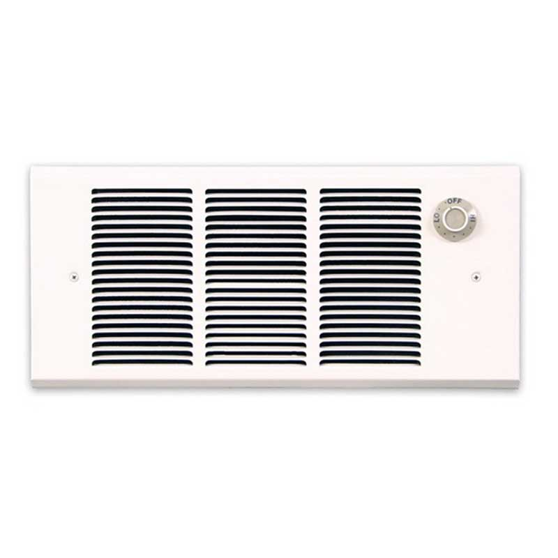 Marley GFR2004T2 Q-Mark® Fan Forced Wall Heater; 240 Volt, 2000/1000, 1500/500 Watt, Surface or Recessed Mount, Sheathed Steel Heating Element, Steel, Polyester Powder-Coated