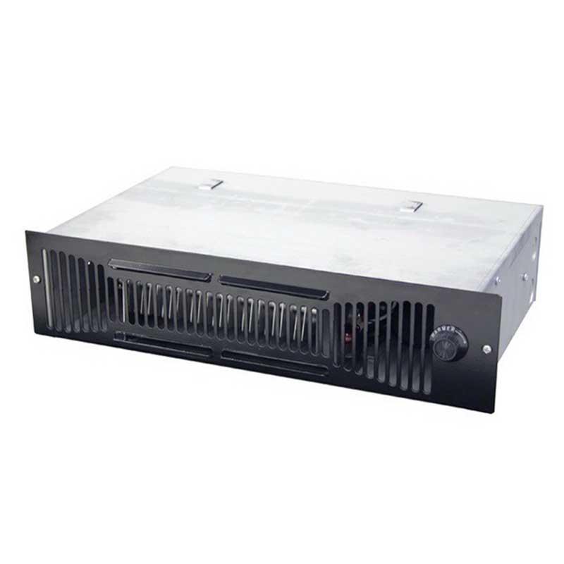 Marley QTS1100 Q-Mark® Toe Space Fan-Forced Heater; 1125/563 Watt, 120 Volt, 3840/1920 BTU/Hour, Wall Mount, Steel Front Cover, Galvanized Steel Back Box, Black