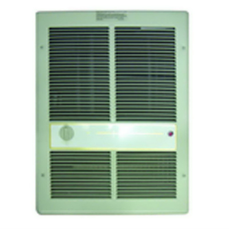 TPI / Raywall HF3315TRP Fan Forced Wall Heater; 240 Volt, 1500/3000 Watt, 600 RPM, Wall Mount, 18 Gauge Steel Front, Ivory, Powder-Coated