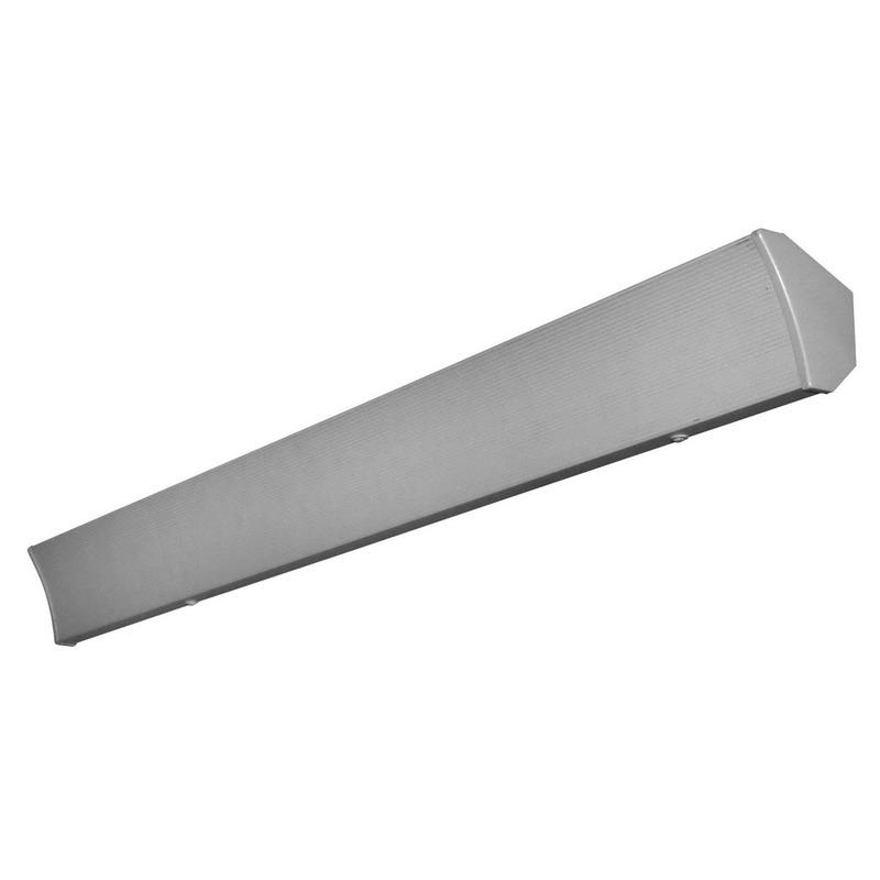 TPI / Raywall CV125X Radiant Cove Heater; 1250 Watt, 240 Volt, 5 Amp, 4266 BTU, Ceiling Mount, 0.962 Inch Thick Aluminum, Nickel-Chrome Alloy Heating Element, White, Powder-Coated