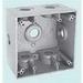 EGS WDK275 2-Gang Weatherproof Box; Die-Cast Zinc, Gray, 40.3 Cubic-Inch, (7) 3/4 Inch Hub