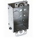 EGS 222 ETP Square Corner Switch Box; 2 Inch Width x 2-1/2 Inch Depth x 3 Inch Height, Steel, 12.5 Cubic-Inch, 7-Knockouts