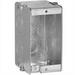 EGS M1-350 1-Gang Masonry Box; 1-13/16 Inch Width x 3.500 Inch Depth x 3.750 Inch Height, Metallic, 22 Cubic-Inch, 10-Knockouts