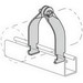 Power-Strut PS-1300-AS-1-EG Allied Tube & Conduit Universal Pipe Clamp; 1 Inch, Electro-Galvanized, 400 lb Load