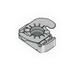 Power-Strut PS-TG-1/4-EG-TOP-GRIP Top Grip Nut With Spring On Top; 1/4-20, Case Hardened, Electrogalvanized