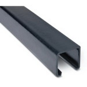 Ocal A12P-G Punched Channel; 12 Gauge, 10 ft x 1-5/8 Inch, Steel, PVC Coated
