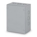 Austin AB-10106SBGK Electrical Box; 10 Inch Width x 4 Inch Depth x 10 Inch Height, Steel, ANSI 61 Gray, Wall Mount, Screwed Cover