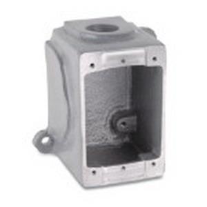 Thomas & Betts 3711A Russellstoll® 1-Gang Deep Conduit Box; Die-Cast and Sand-Cast Aluminum
