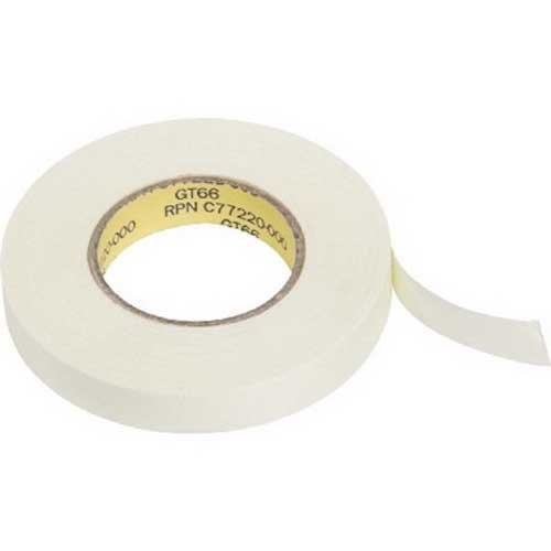 Raychem GT-66 Adhesive Tape; 66 ft x 12 mm, Glass Fiber, White