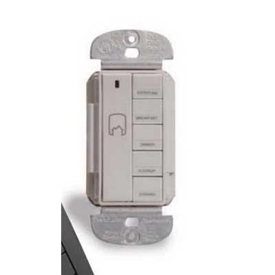 Watt Stopper Micro MRH6-G Wireless Remote Room Scene Controller 3 1.5 Volt Alkaline AAA Batteries- Charcoal Gray-