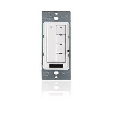 Watt Stopper LMSW-105-W LMSW-100 Series Digital Wall Switch; Up to 63-Pole, 5 Amp, 24 Volt DC, 5-Button, White