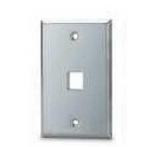 Signamax SSKF1 1-Gang Keystone Faceplate; 1-Port, Stainless Steel, Flush Mount