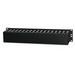 Signamax CDP-350 Finger Style Front Horizontal Wire Manager; 2-Rack Unit, Steel, Black, Epoxy Powder-Coated
