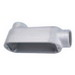 L.H. Dottie T50M Type T Conduit Body; 1/2 Inch Hub, Malleable Iron, Zinc-Plated Aluminum Enameled