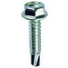 L.H. Dottie TEKHW101 PC 4220 Hex Washer Self Drilling Screw; #10, 1 Inch Length, Steel, Zinc-Plated