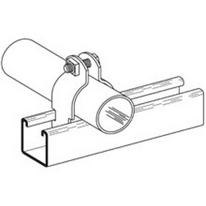 Cooper B-Line B2022-ZN B2000 Series Pipe Clamp; 8 Inch, 2-Piece, 11 Gauge Low Carbon Steel, Electro-Plated Zinc