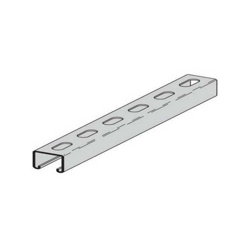 Cooper B-Line B52SHA-120GRN Back To Back Combination Channel; 120 Inch x 1-5/8 Inch x 13/16 Inch, 9/16 Inch x 1-1/8 Inch Slot Size, Type SHA Slot, Dura-Green™