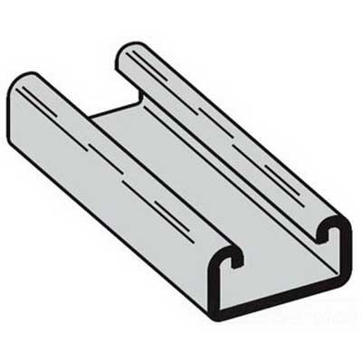 Cooper B-Line B52GALV10 Spot Welded Channel; 12 Gauge, 10 ft x 1-5/8 Inch x 13/16 Inch, Steel, Pre-Galvanized