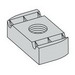 Cooper B-Line N525WOZN Nut Without Spring; 1/2-13, Steel, Zinc Electroplated