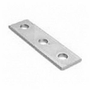 Cooper B-Line B557-ZN 3-Hole Splice Plate; Steel, Zinc Electroplated