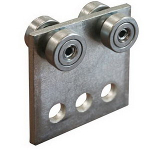 Cooper B-Line B376ZN 3-Hole Four Bearing Trolley Assembly; Steel, Zinc Electroplated