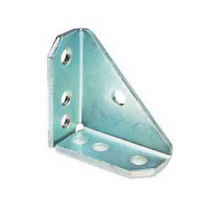 Cooper B-Line B844-ZN 7-Hole Universal Shelf Bracket; Steel, Zinc Electroplated