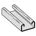 Cooper B-Line B54GALV10 Metal Framing Single Solid Channel; 14 Gauge, 10 ft x 1-5/8 Inch x 13/16 Inch, Steel, Pre-Galvanized