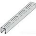 Cooper B-Line B22S-120SS4 Metal Framing Single Slotted Channel; 12 Gauge, 10 ft x 1-5/8 Inch x 1-5/8 Inch, 13/32 Inch x 3 Inch Slot Size, Type S Slot, Steel, 304 Stainless Steel