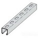 Cooper B-Line B22SH-120HDG Metal Framing Single Slotted Channel; 12 Gauge, 10 ft x 1-5/8 Inch x 1-5/8 Inch, 9/16 Inch x 1-1/8 Inch Slot Size, Type SH Slot, Steel, Hot-Dipped Galvanized
