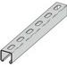 Cooper B-Line B22SH-120SS6 Metal Framing Single Slotted Channel; 12 Gauge, 120 Inch x 1-5/8 Inch x 1-5/8 Inch, 9/16 Inch x 1-1/8 Inch Slot Size, Type SH Slot, Steel, 316 Stainless Steel