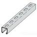 Cooper B-Line B54SH-120SS6 Metal Framing Single Slotted Channel; 14 Gauge, 120 Inch x 1-5/8 Inch x 13/16 Inch, 9/16 Inch x 1-1/8 Inch Slot Size, Type SH Slot, Steel, 316 Stainless Steel