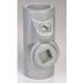 Appleton EYS8 Unilets® Type EYS Sealing Fitting; 3 Inch, Female, Grayloy™ Iron, Gray