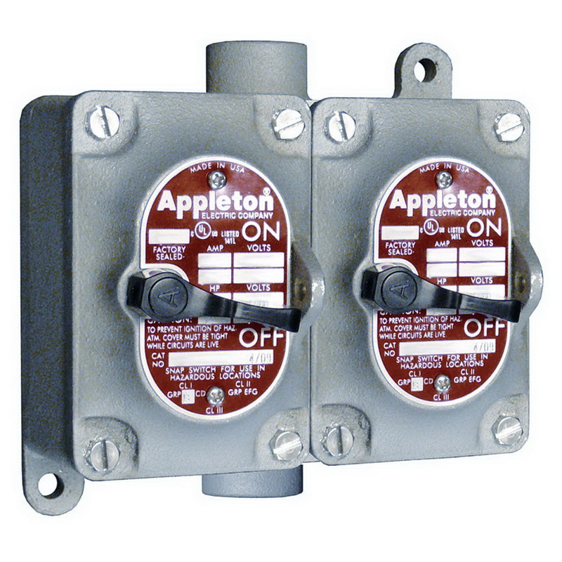Appleton EDSC3230 EDS Series 2-Gang 3-Way Switch 20 Amp  120/277 Volt AC