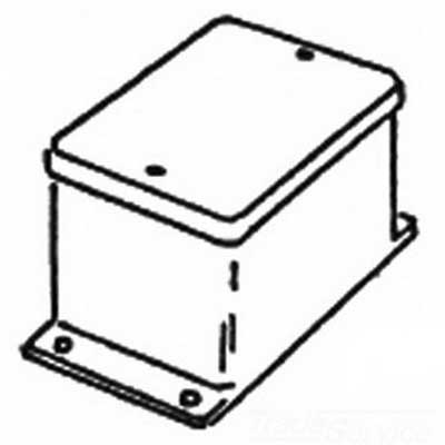 Appleton JIC-1 Blank Junction Box; 2-5/8 Inch Width x 2-3/16 Inch Depth x 4-1/8 Inch Height, Steel, Surface Mount, Screwed Cover