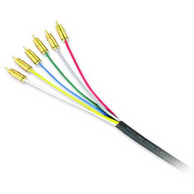 Genesis Cable 50190108 RGB/Component Video Mini-Coaxial Cable; 300 Volt, 250 ft Reel, Copper, Black