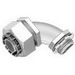 Bridgeport 477-LTI2 90 Degree Liquidtight Connector With Insulated Throat; 3 Inch, Zinc Cast